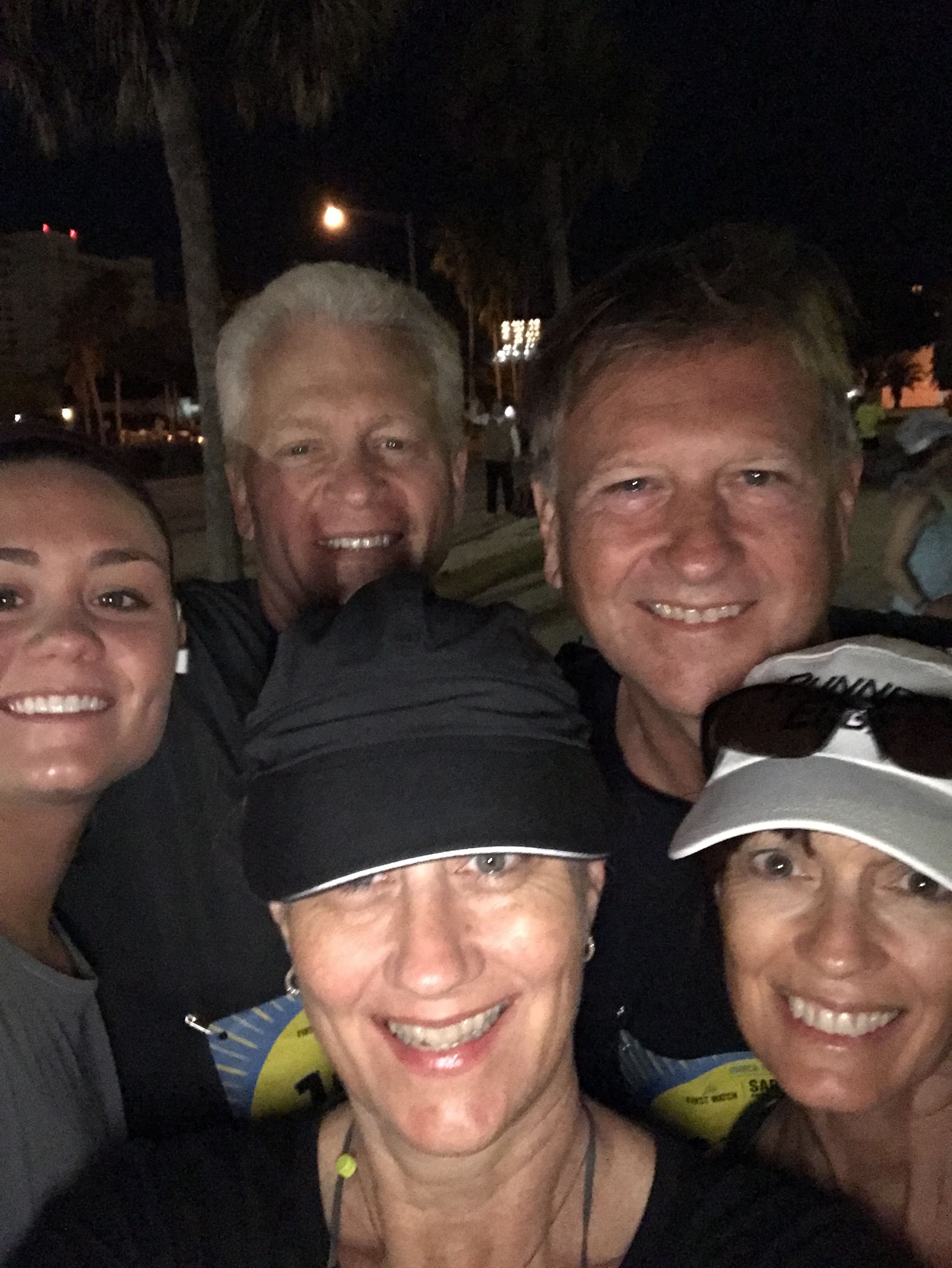 6:40 a.m. just before the start of the 1/2 marathon