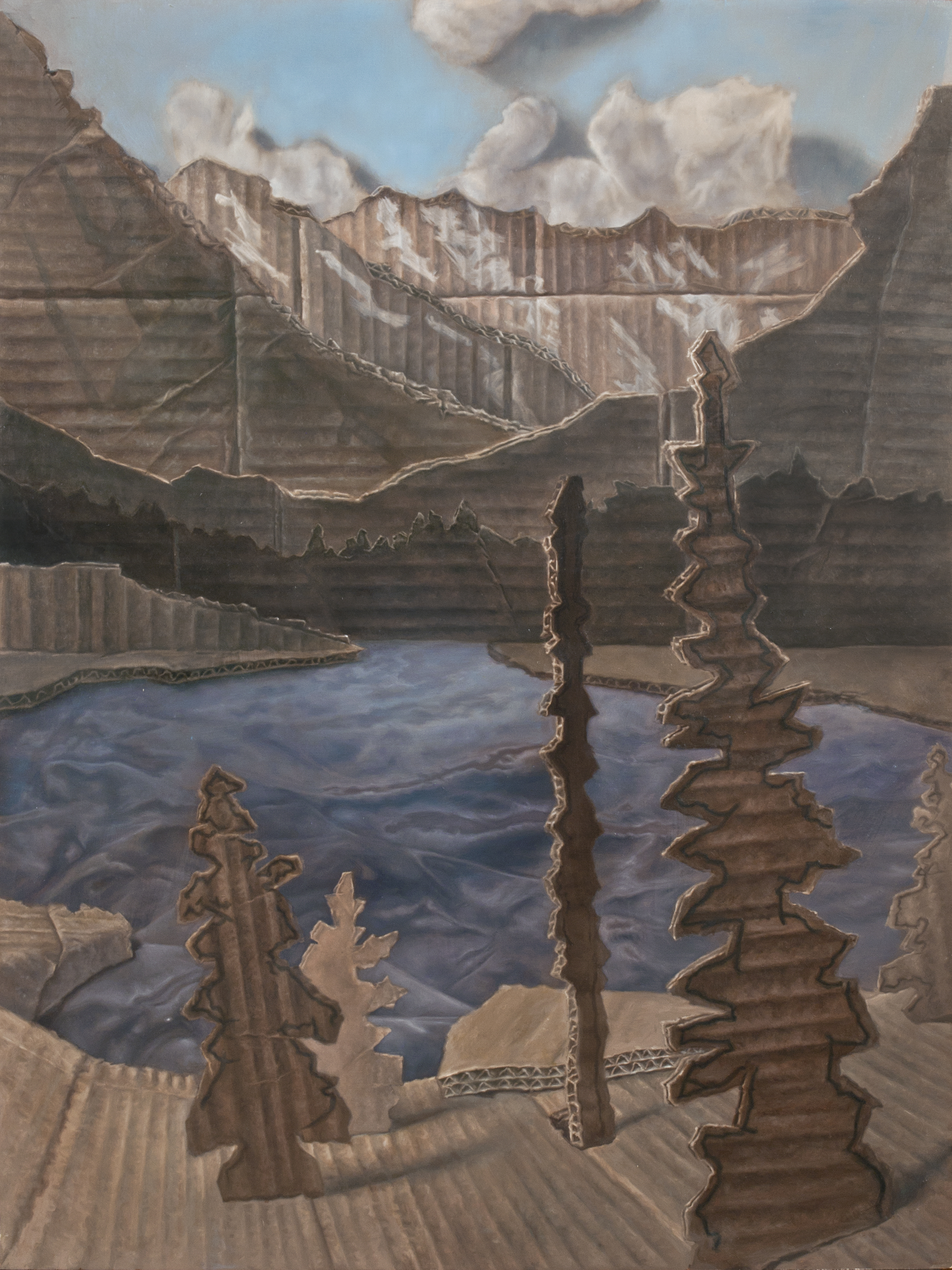"Bear Lake  Oil on Panel 24"" x 18"" 2013"