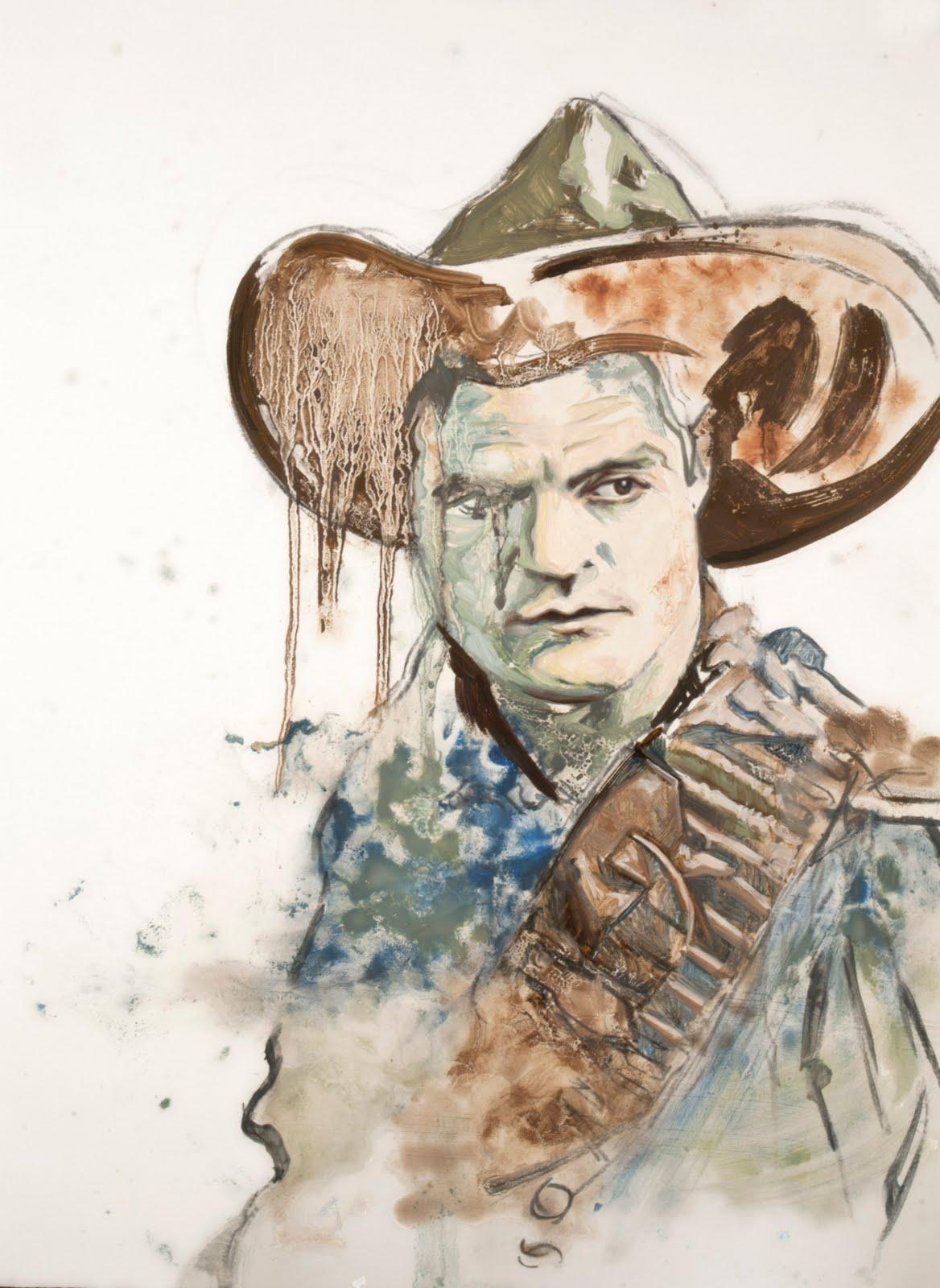 "Cowboy 12  Oil on Panel 20"" x 16"" 2012"