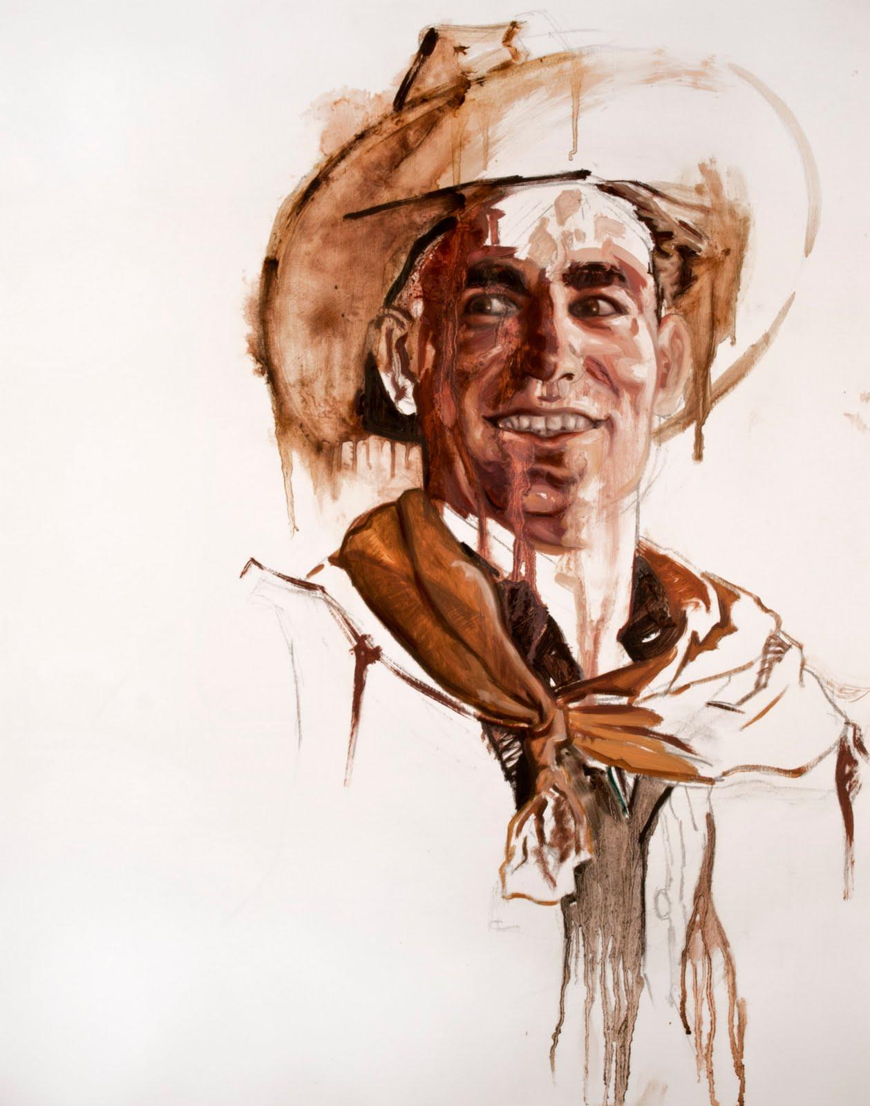 "Cowboy 9 Oil on Panel 20"" x 16"" 2012"