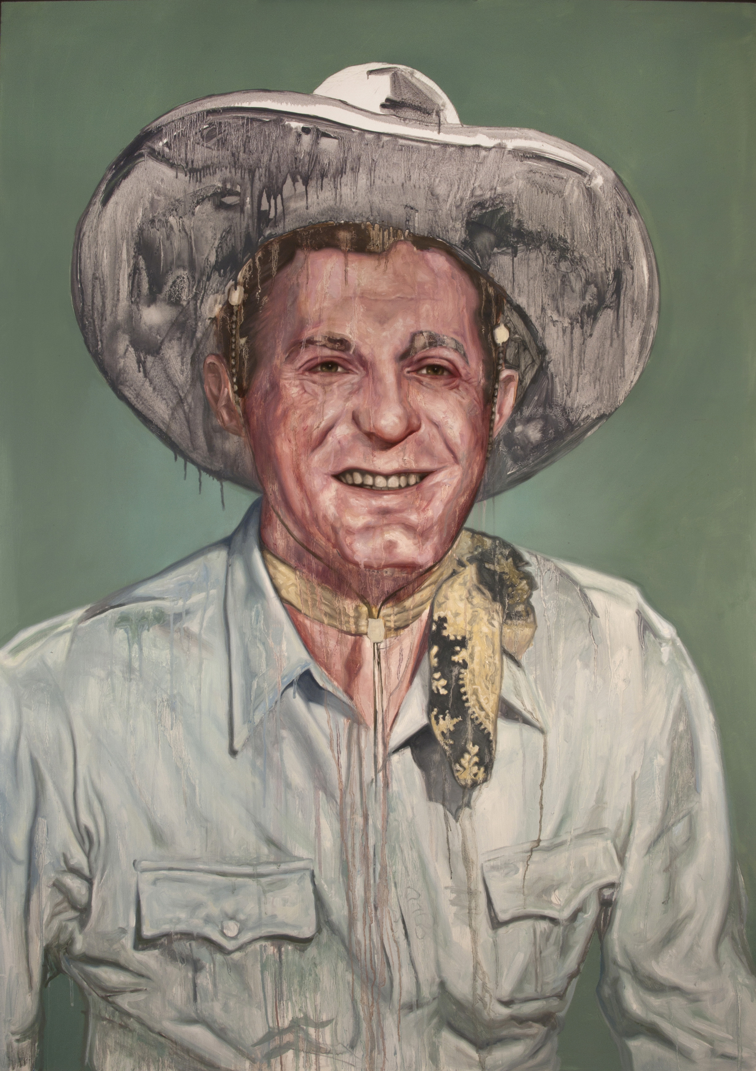 """Grin and Bear It  Oil on Panel 48"""" x 36"""" 2012"""