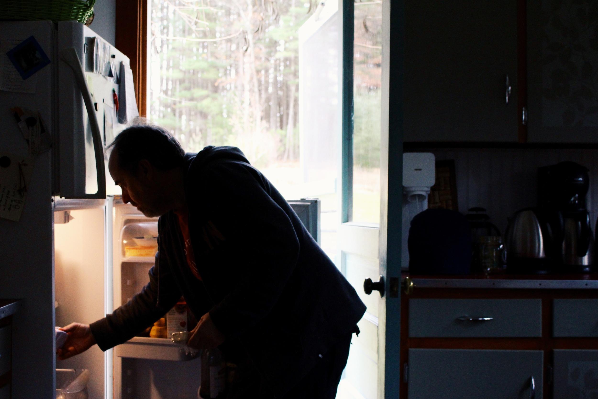 Steve in the fridge