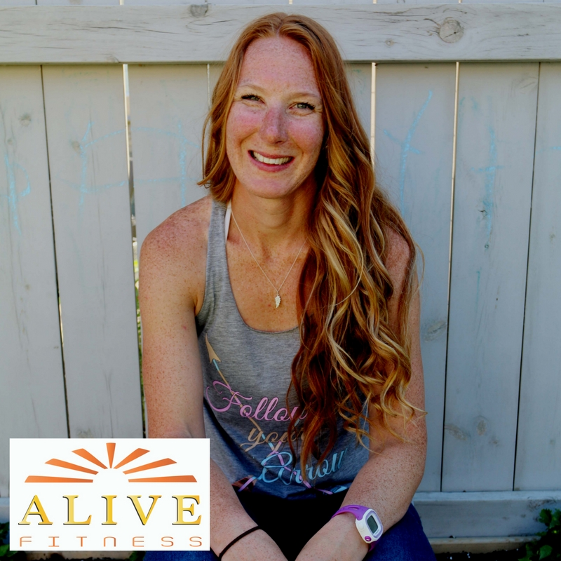 Kelsey Davidson, owner of Alive Fitness & Wellness. She passionately inspires women to FEEL ALIVE, physically, mentally and spiritually through personal training, life coaching, holistic nutrition coaching and more.