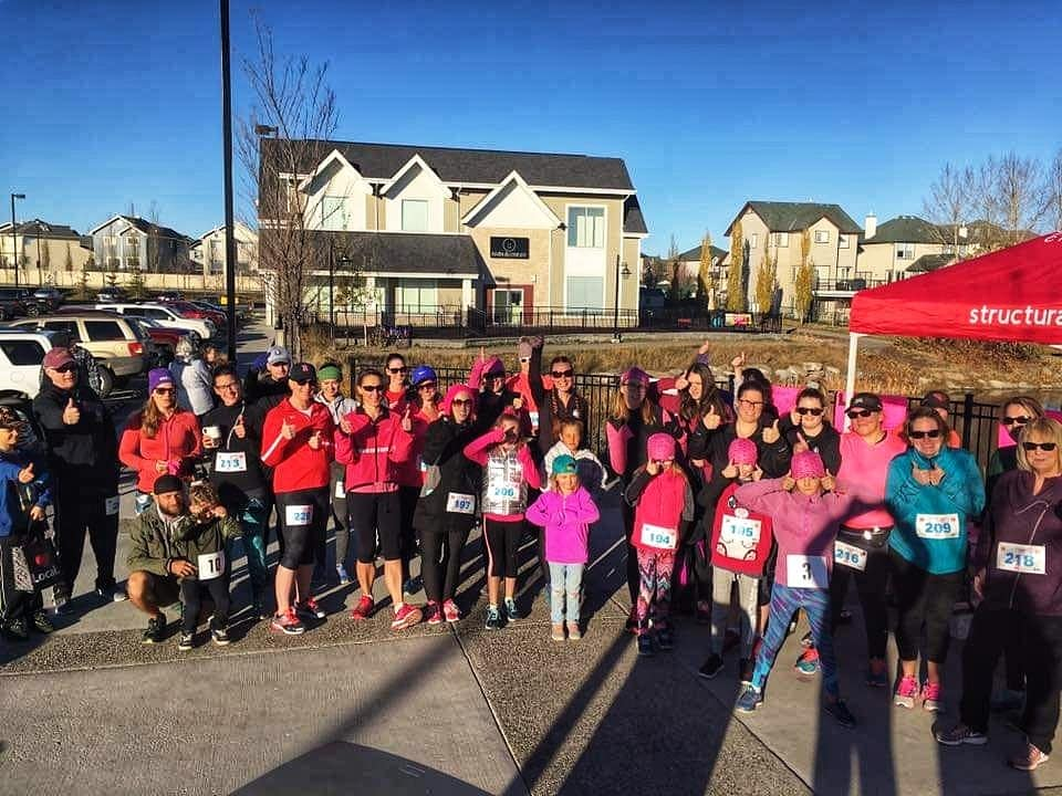 2018 Breast Cancer Run in Airdrie