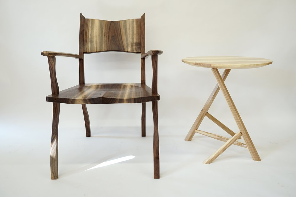 A table and chair I designed with no formal training.