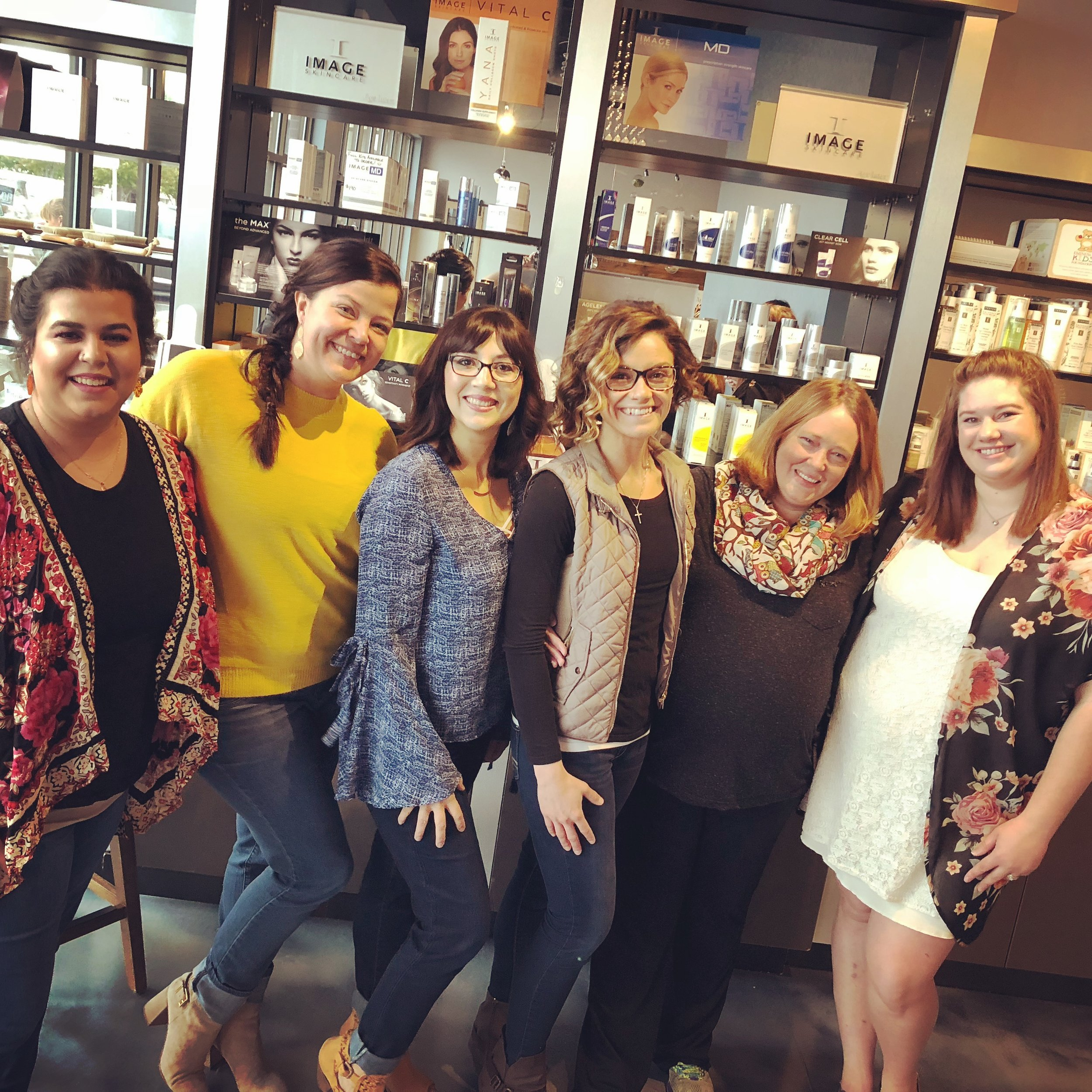 Veronica - Makeup  Ashley-Slender Body Wraps, Spray Tanning and Paramedical Tattooing  Kelie- Facials, Dermaplaning, Chemical Peels, Waxing, & Lash Lift  Sabrina- Massage  Ryana- Massage, Facials & Makeup  Karleigh- Facials, Dermaplaning, Chemical Peels, Waxing, & Lash Extensions