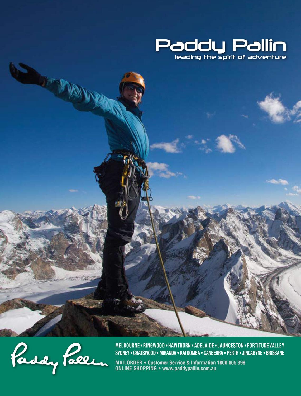 Paddy Pallin ad, Banff MFF program May 2009