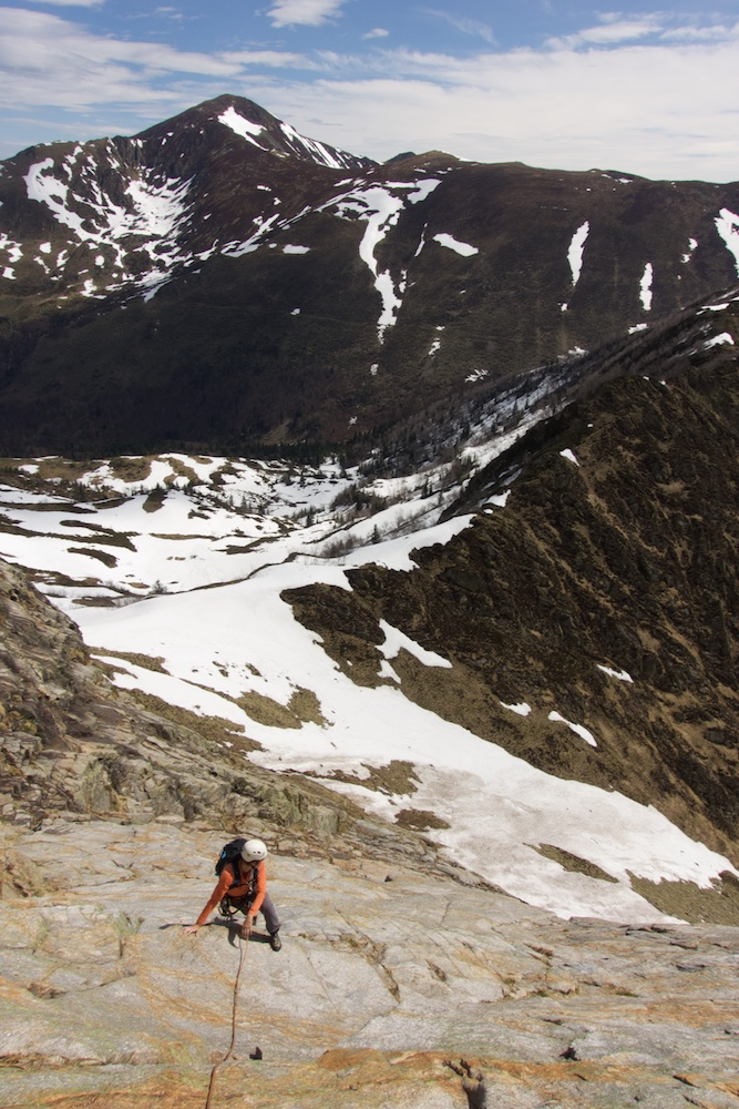 Climbing Dent d'Orlu in the Pyrenees