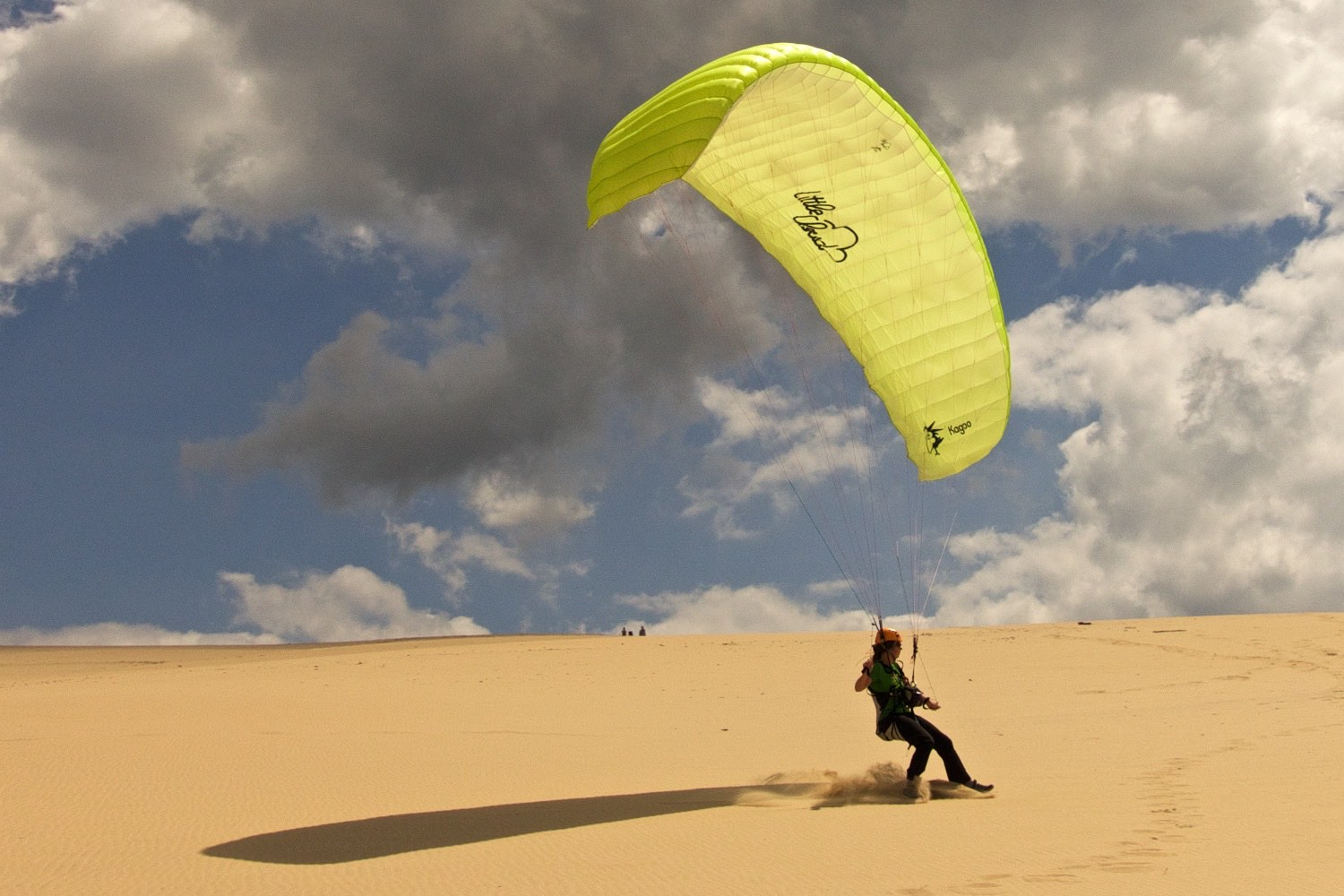 Skimming the sand, paragliding at Dune de Pyla