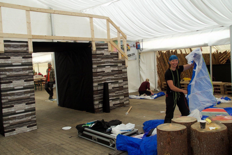 Tash during our volunteering stint for Ekstremesport Festival