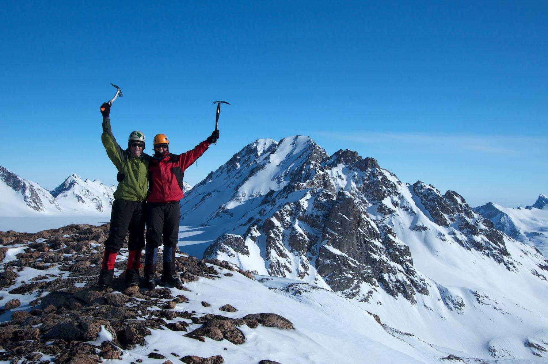 From Castle Peak's summit