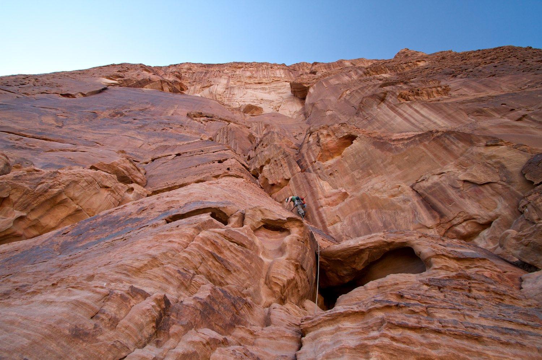Climbing on Jebel Rum