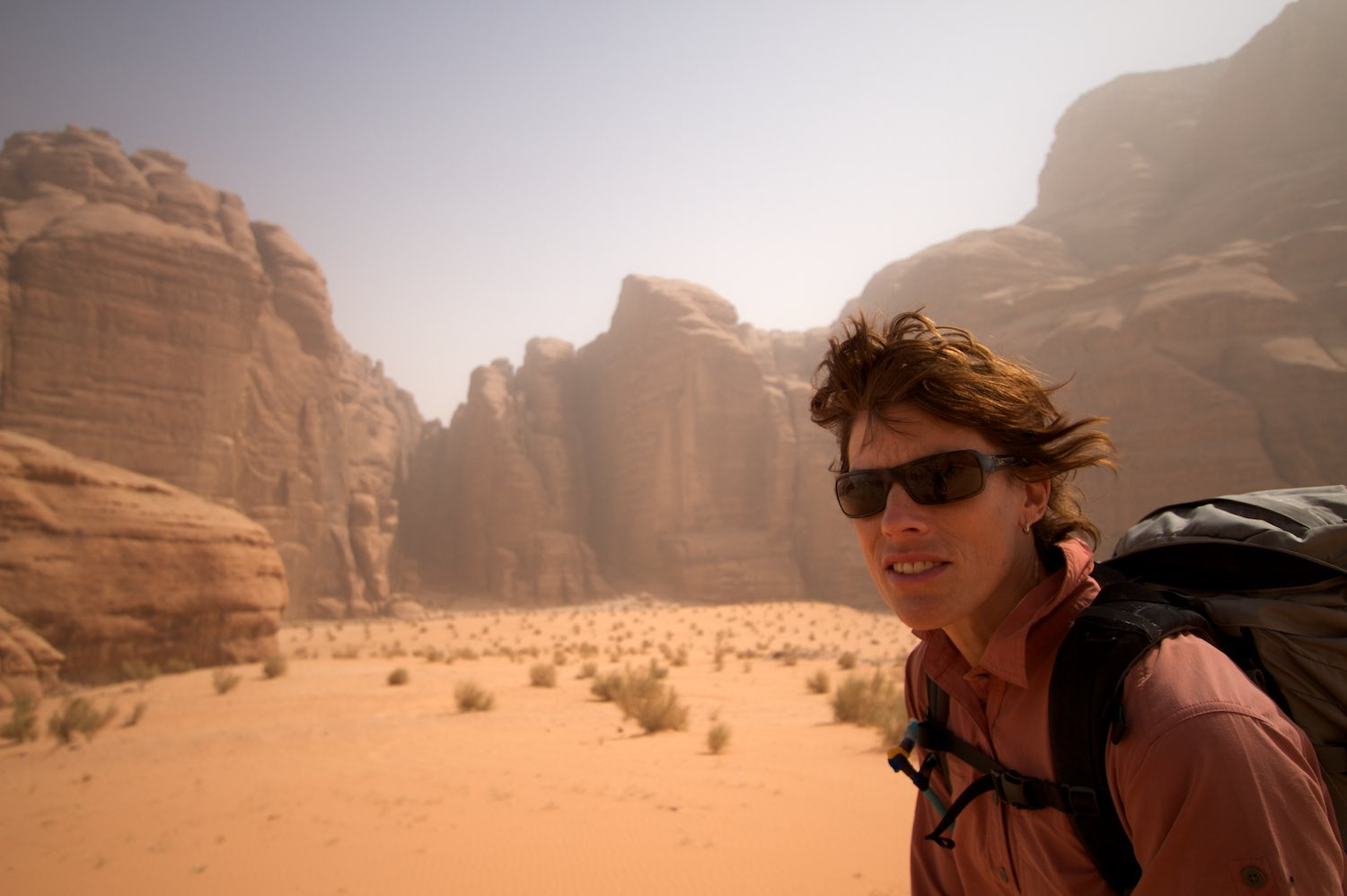Getting windblown in a sand storm