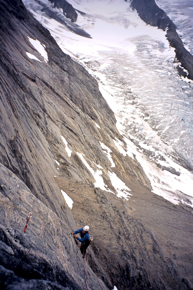 Gemma seconding on our new route on the Baby Molar