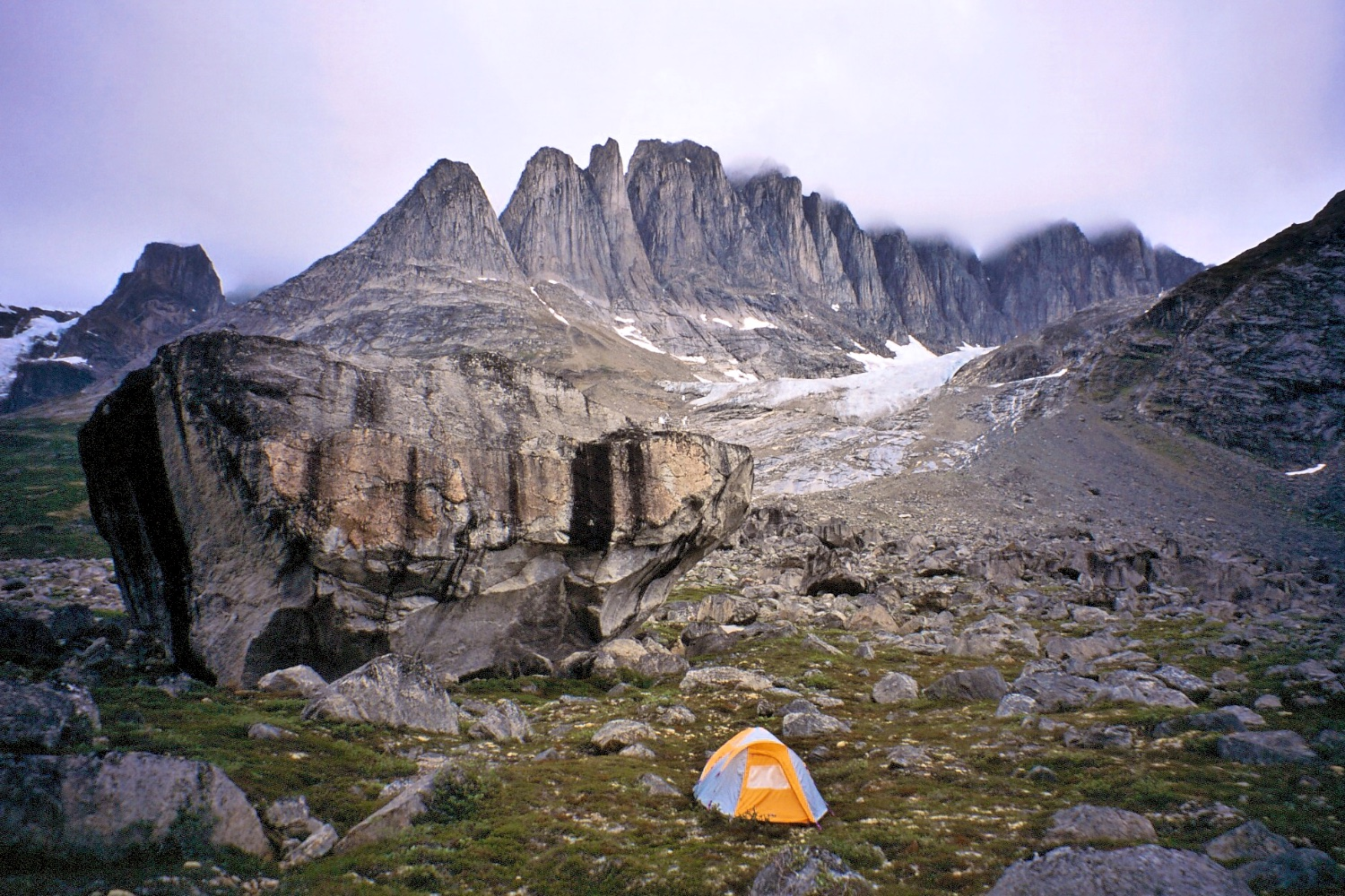 Our camp below the Fox Jaw Cirque