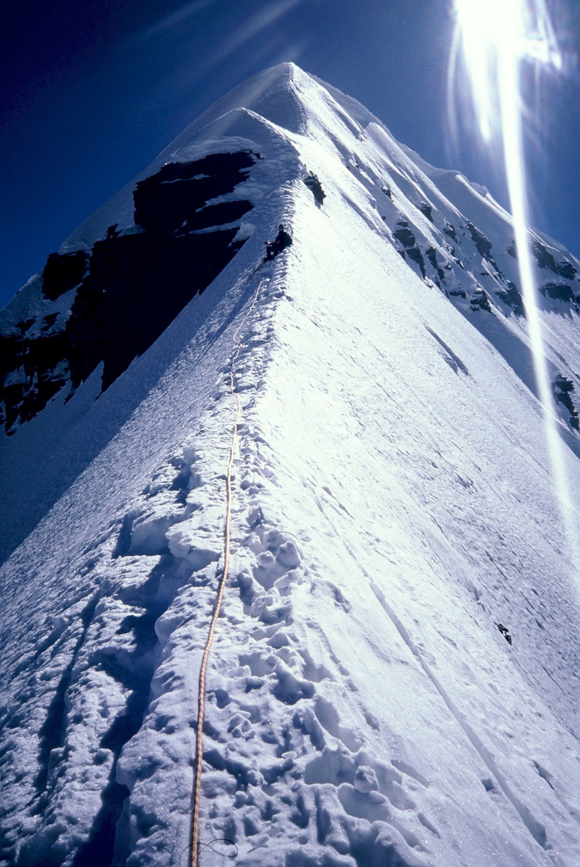Approaching the summit of Cabeza de Condor