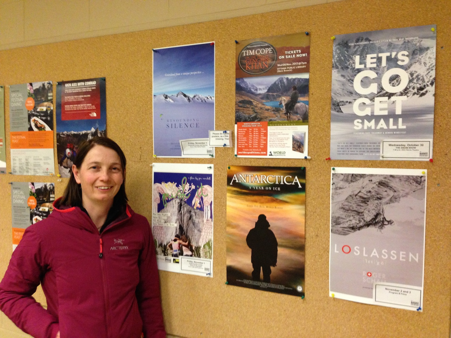 Tash next to her film poster among some of the other posters for the 2013 BMMF