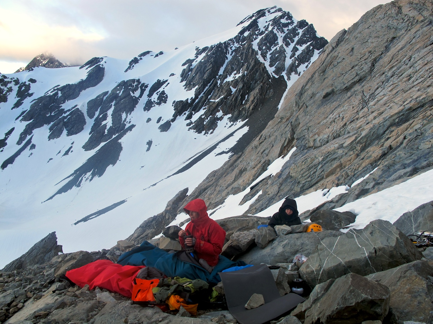 Bivvy just before Copland Pass during the traverse