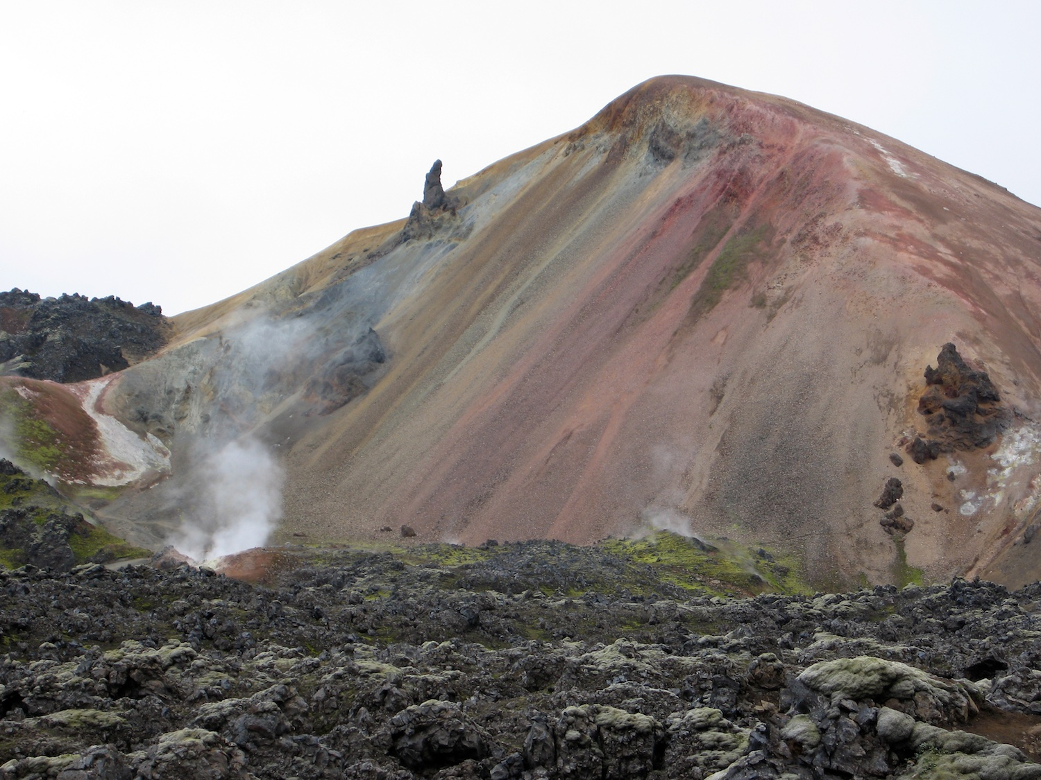 The spectacular colourful hills and lava flows of Landmannalaugar