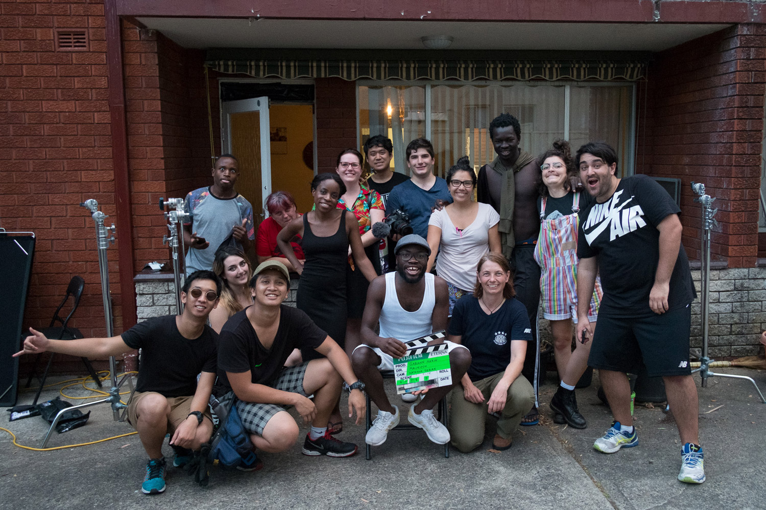 Happy crew at the end of the shoot