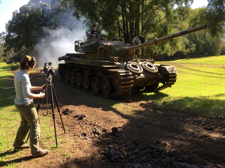 Centurion tank in action