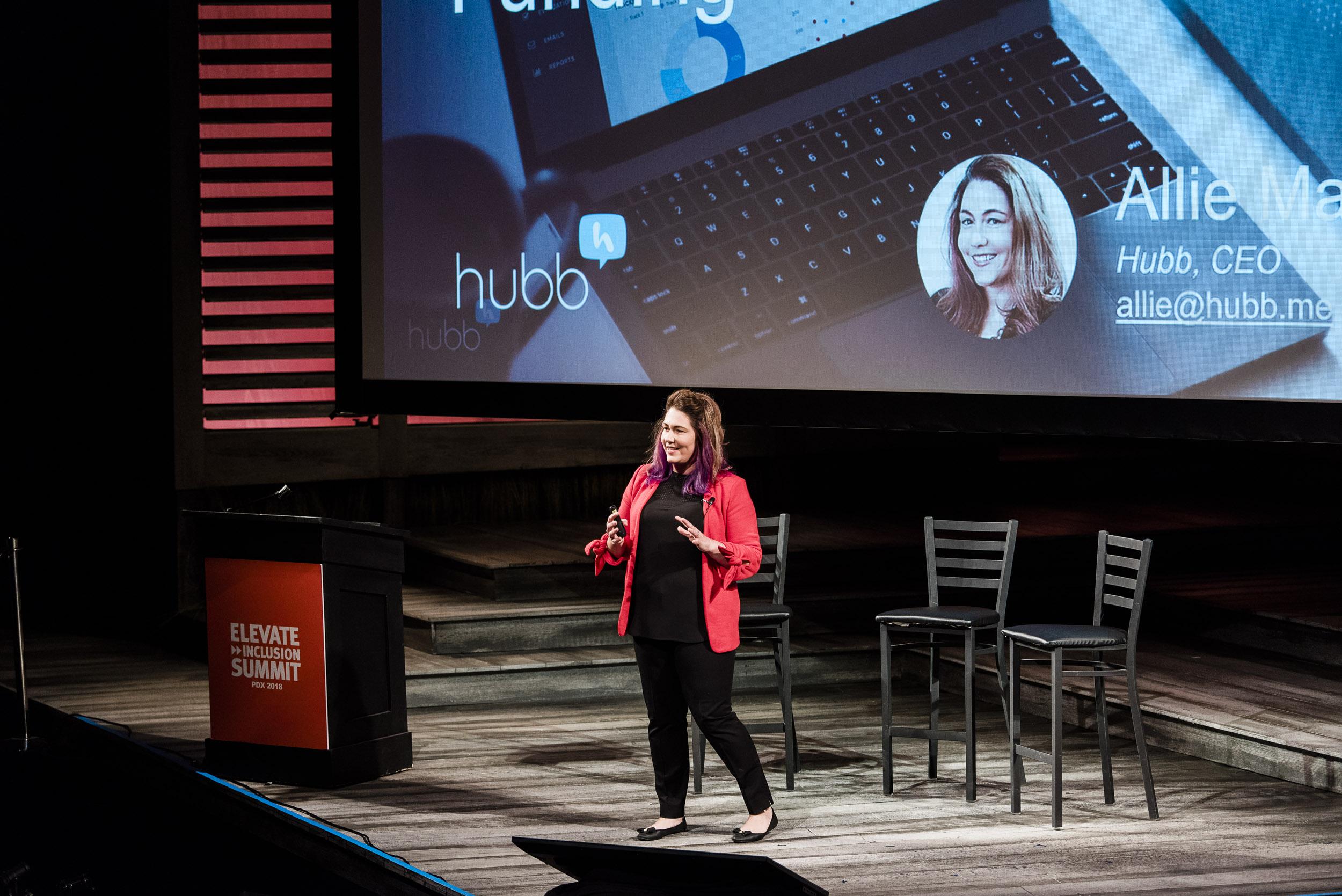 Allie Magyar at Elevate Inclusion Summit 2018
