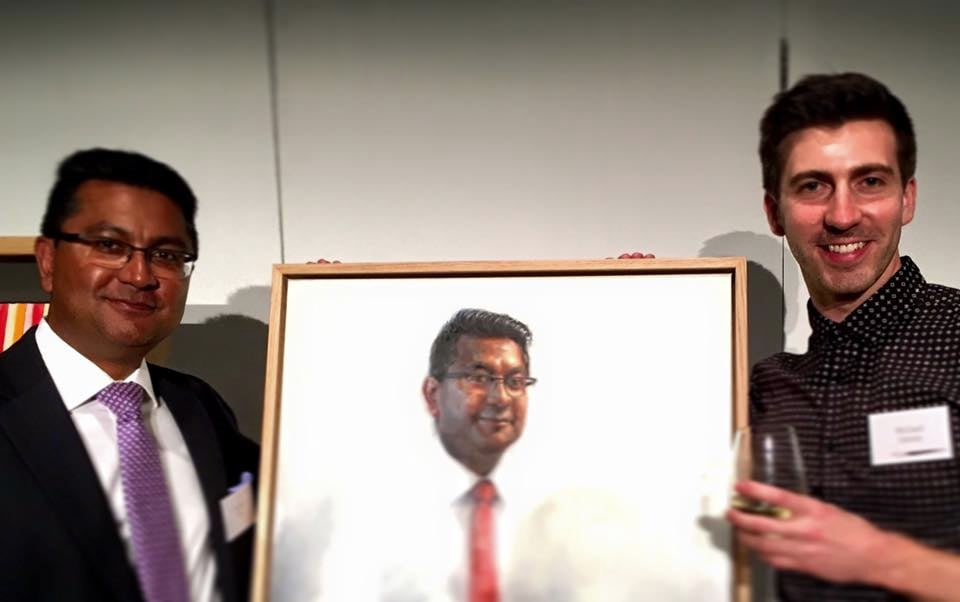 Joydeep and I at the Museum of Contemporary Art Quayside Room, where the portraits were unveiled to all participating leaders.
