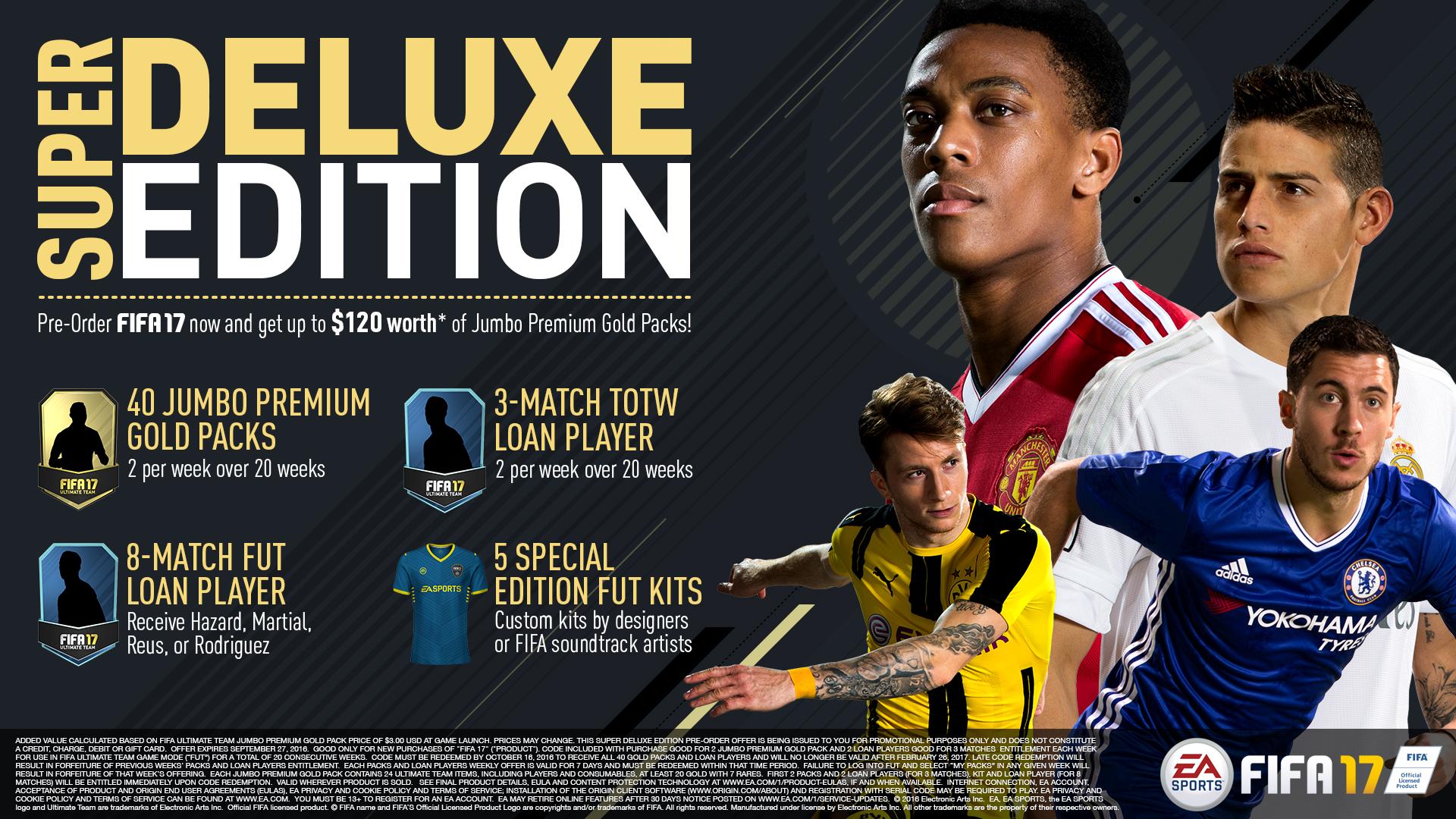FIFA 17 Super Deluxe Preorder Slate