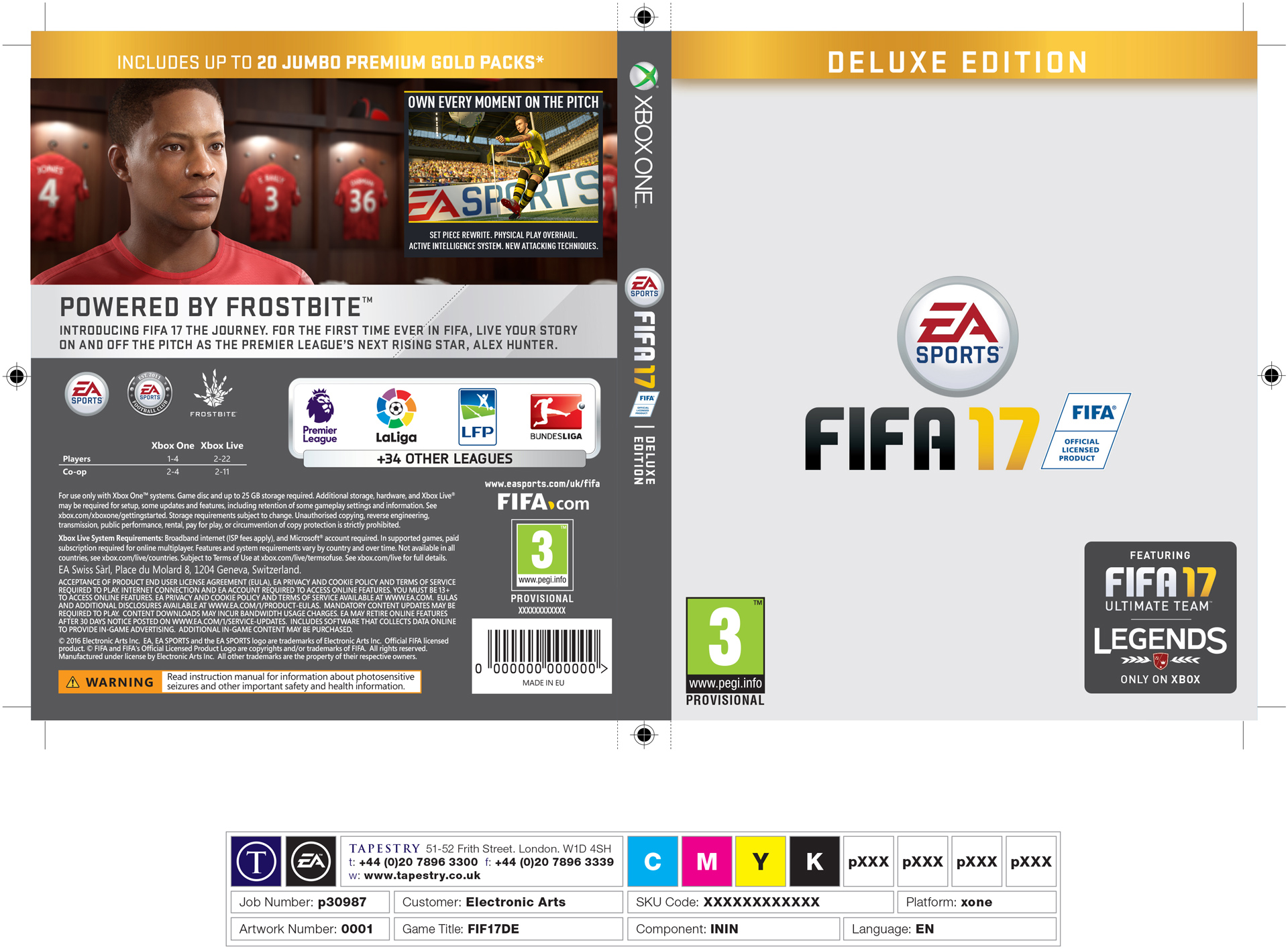 FIFA 17 Back of Pack