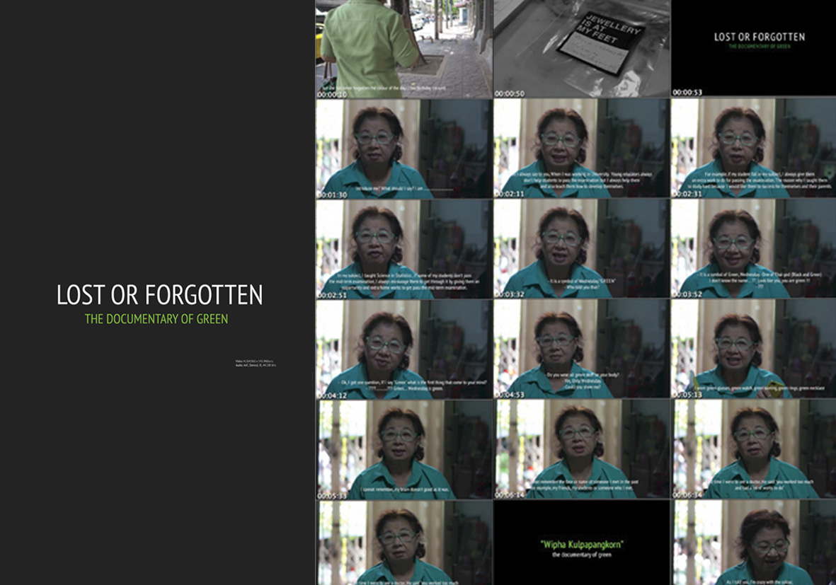 Lost or Forgotten  | Documentary film of Wipha Kulpapangkorn | 2013