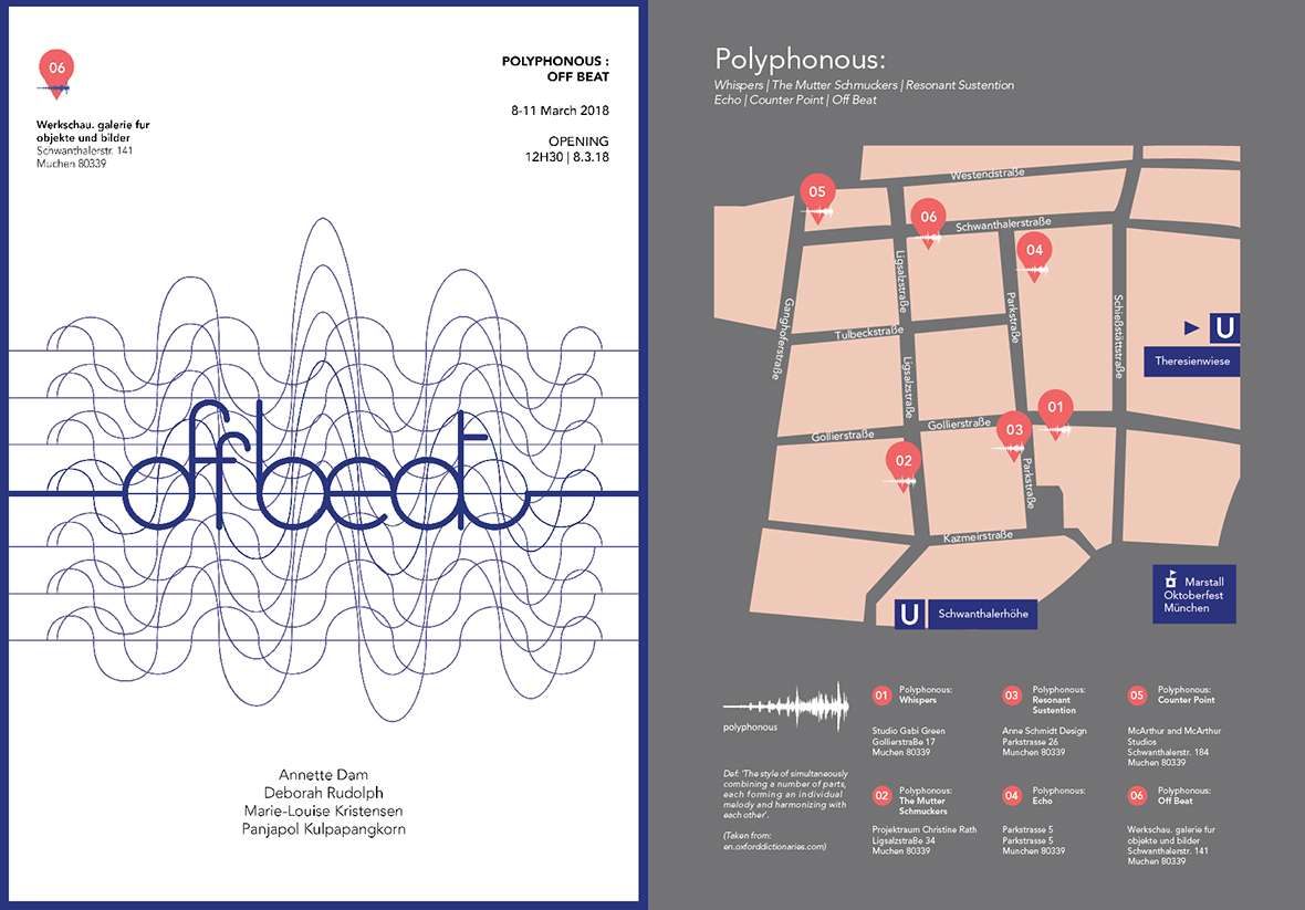"""Polyphonous: Off Beat"" poster and map"