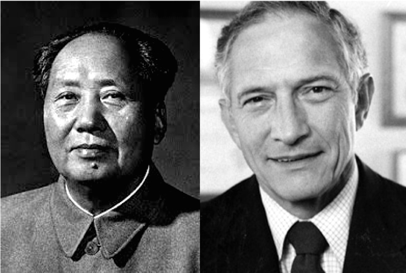 Mao Zedong (L) and Robert Noyce (R)