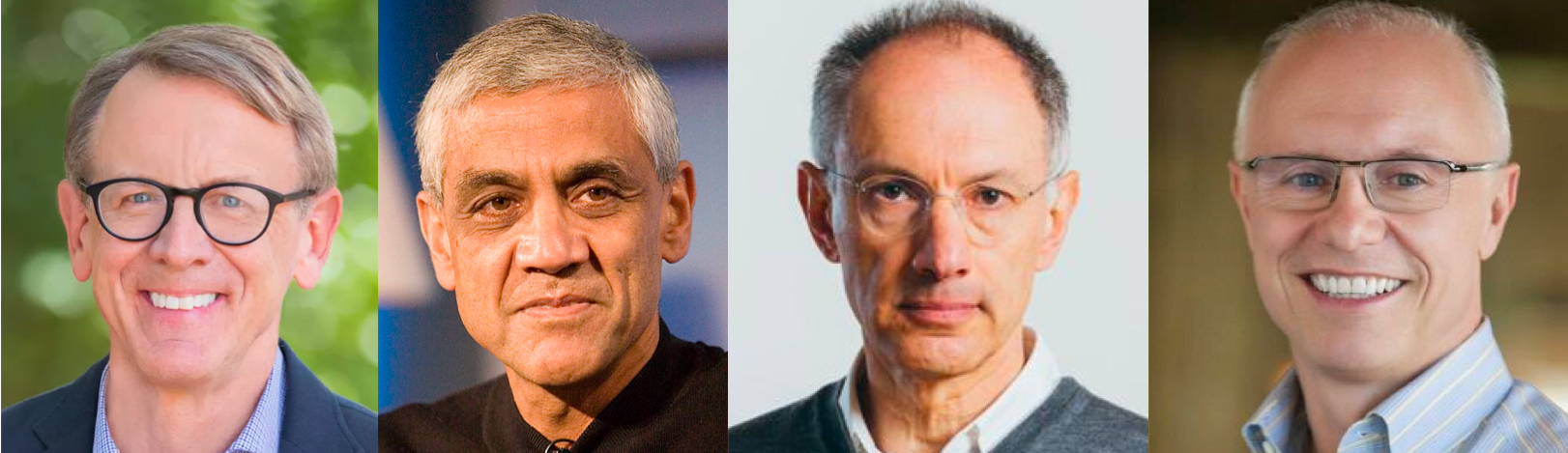From left to right: John Doerr, Vinod Khosla, Michael Moritz, Doug Leone