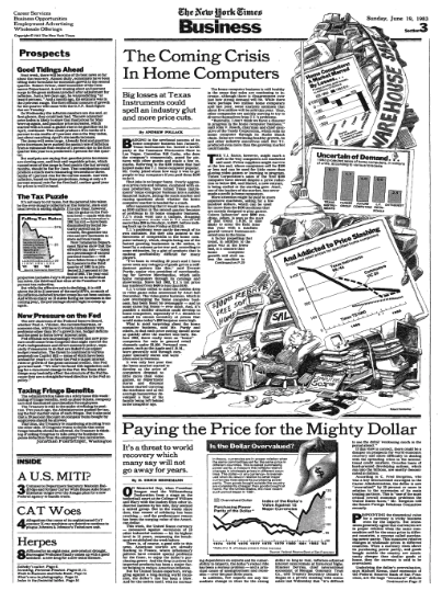 """The Coming Crisis In Home Computers"",  The New York Times , June 19, 1983."
