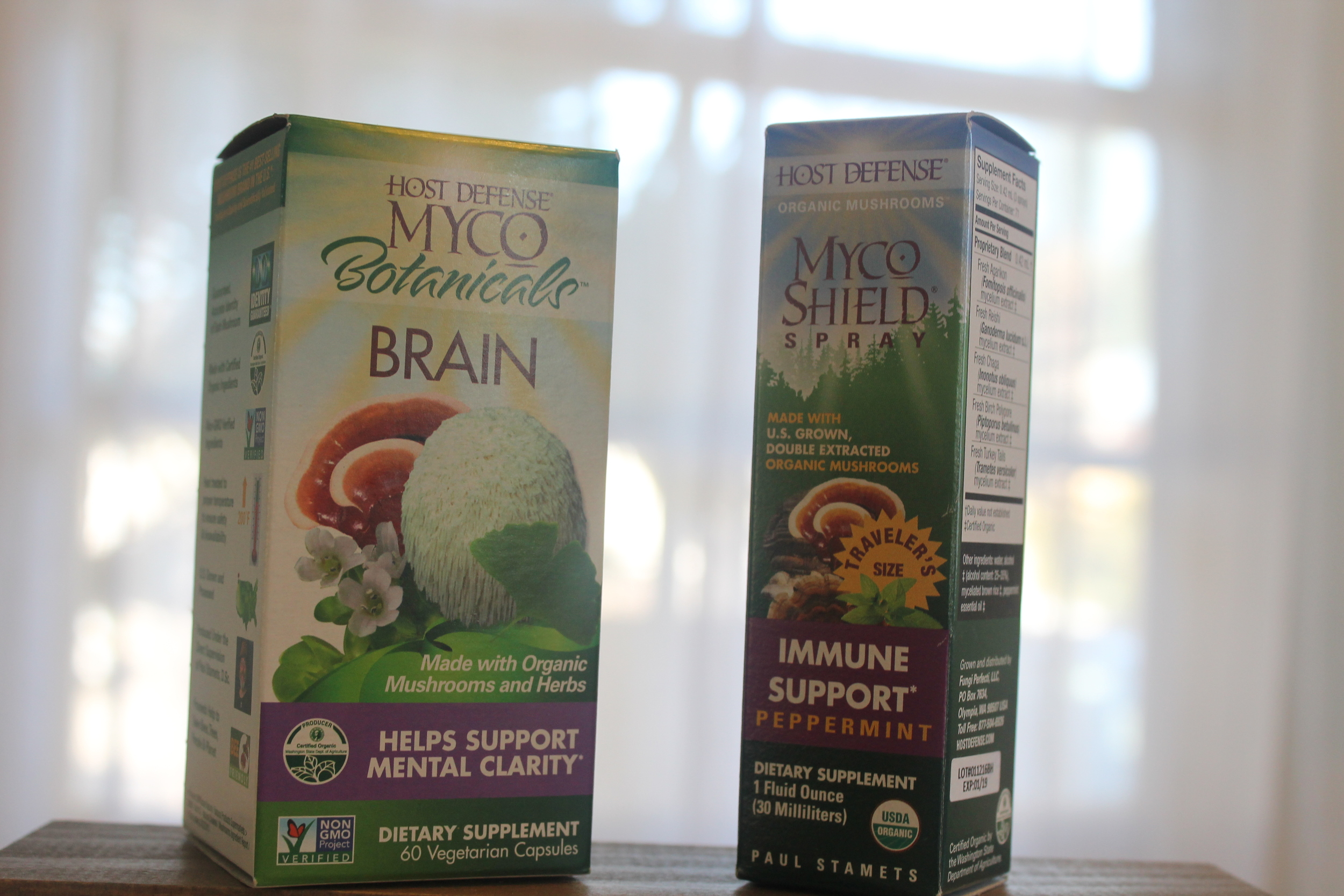 4.  Host Defense     A medicinal mushroom supplement company that I have used and loved in the past. This year they had a new supplement--the MycoBotanicals™ Brain blend. Made up of lion's mane, reishi, cordycpes, ginkgo balboa, bacopa, and gotu kola, this supplement does the trick at reducing metal fog and increasing concentration and clarity!
