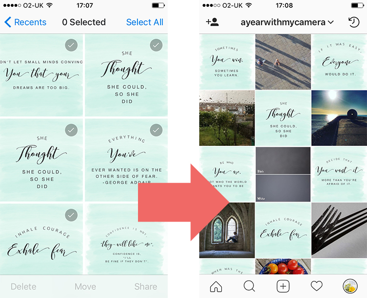 Photos from Dropbox to Instagram via the iPhone Camera Roll