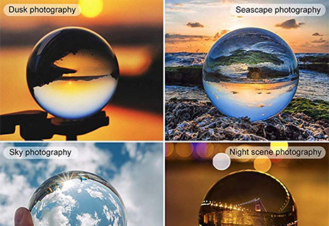 Another popular craze this year - the crystal ball used to invert a landscape (£13)
