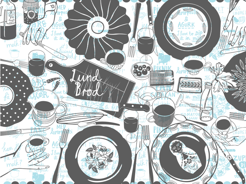Illustrations for Lund Brød micro bakery.