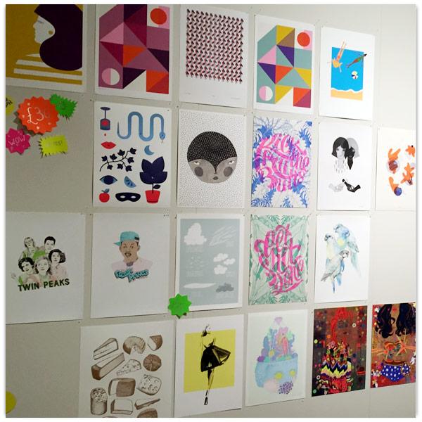 Organised tiled work