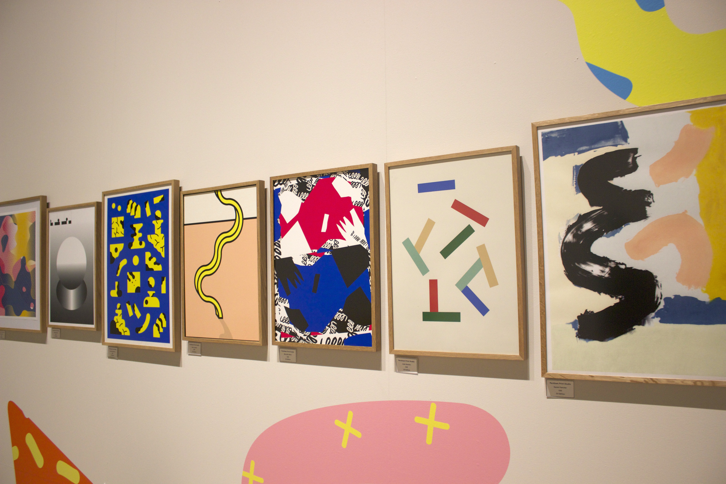 Linear display + wall painting