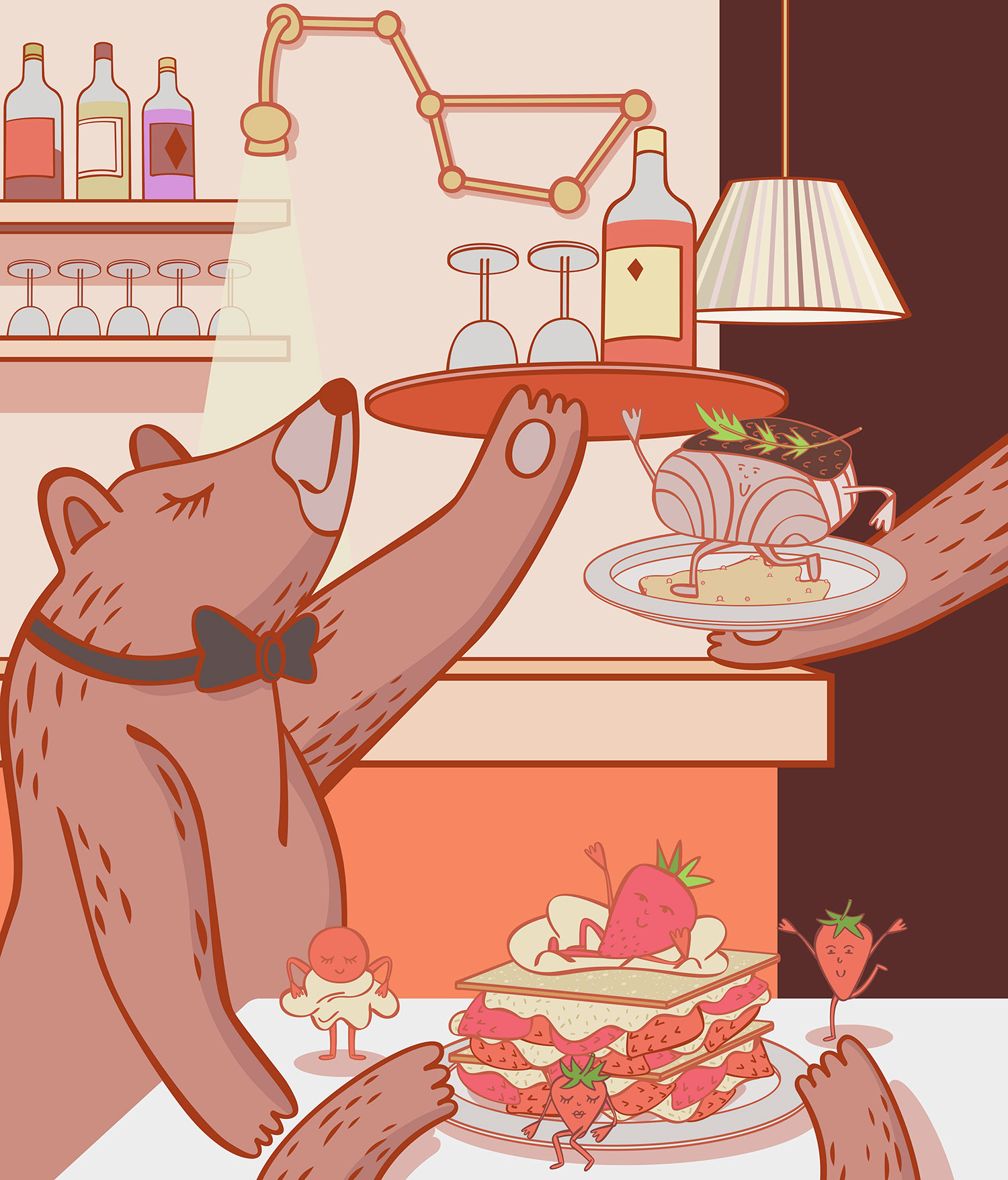 Restaurant Review Illustrated: La Grande Ourse in Paris.