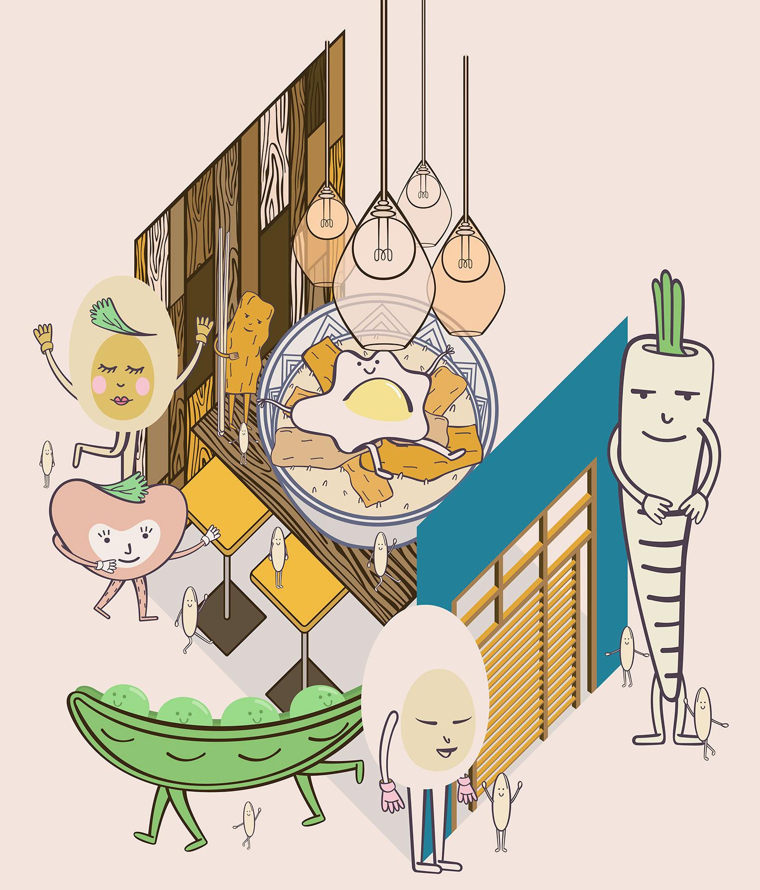 Restaurant Review Illustrated: Oishinoya in Paris.
