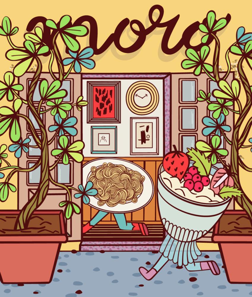 Artwork for restaurant review of Al Moro