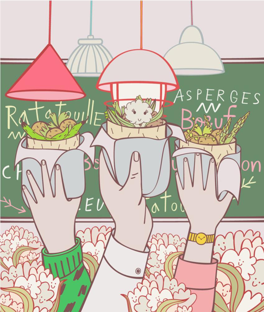 Artwork for restaurant review of Miznon