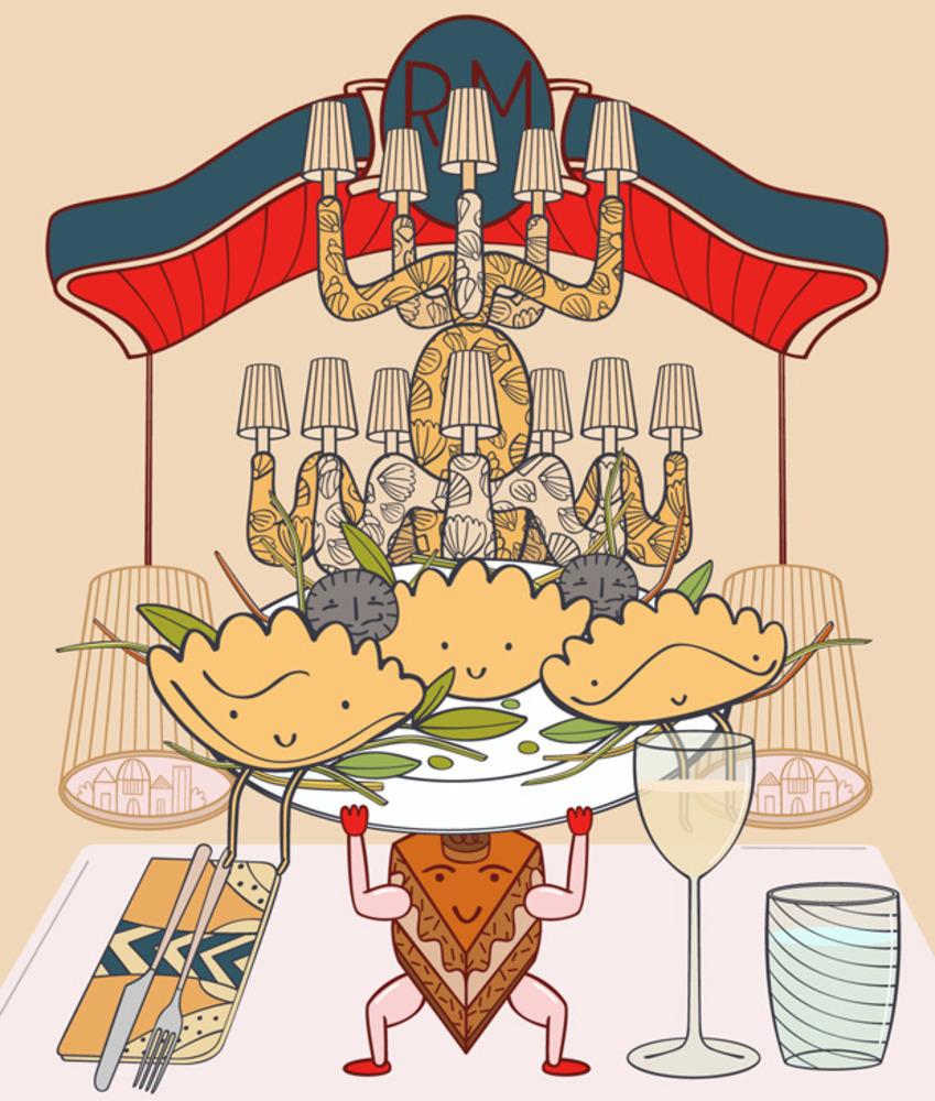 Artwork for restaurant review of Carpaccio