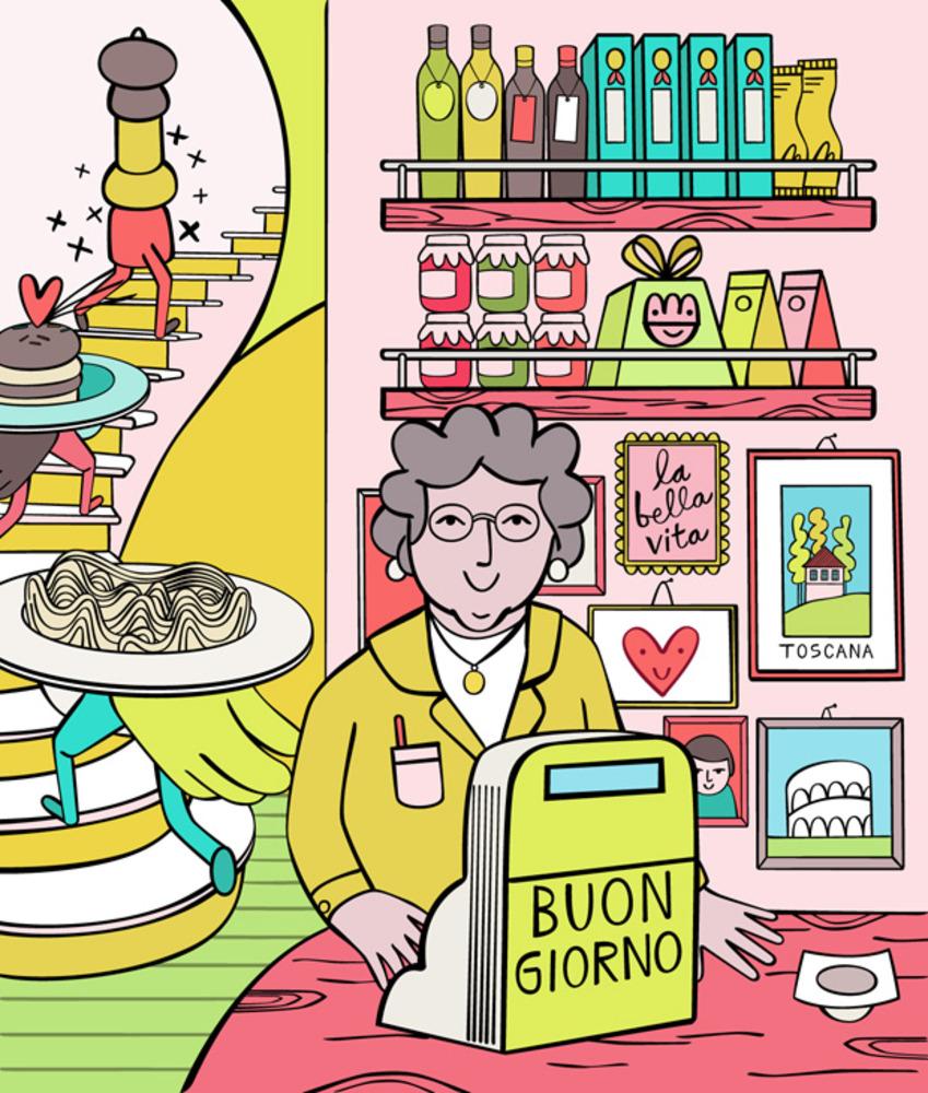 Artwork for restaurant review of Pastavino