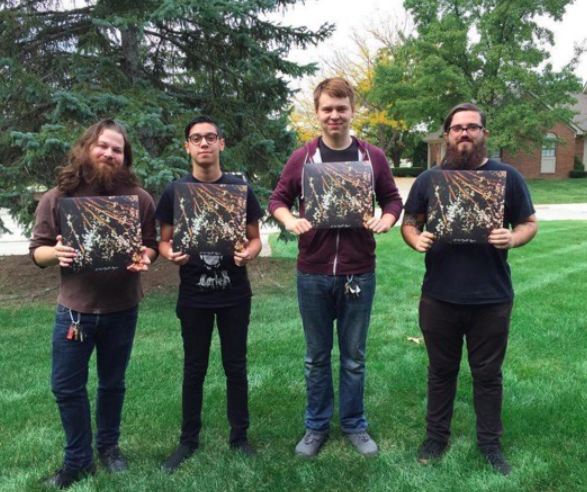Have Fun Records personally delivered the physical version of  I Lost Myself Again , the band poses with vinyl copies above.