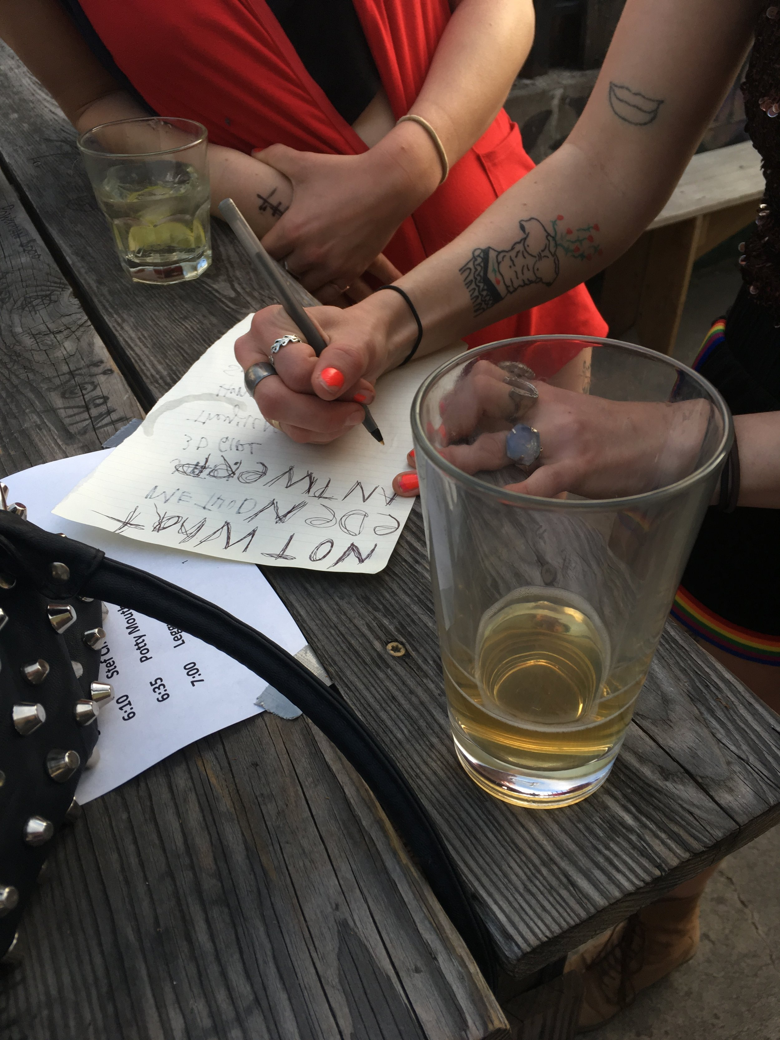 Setlist preparations for TGE x New Professor
