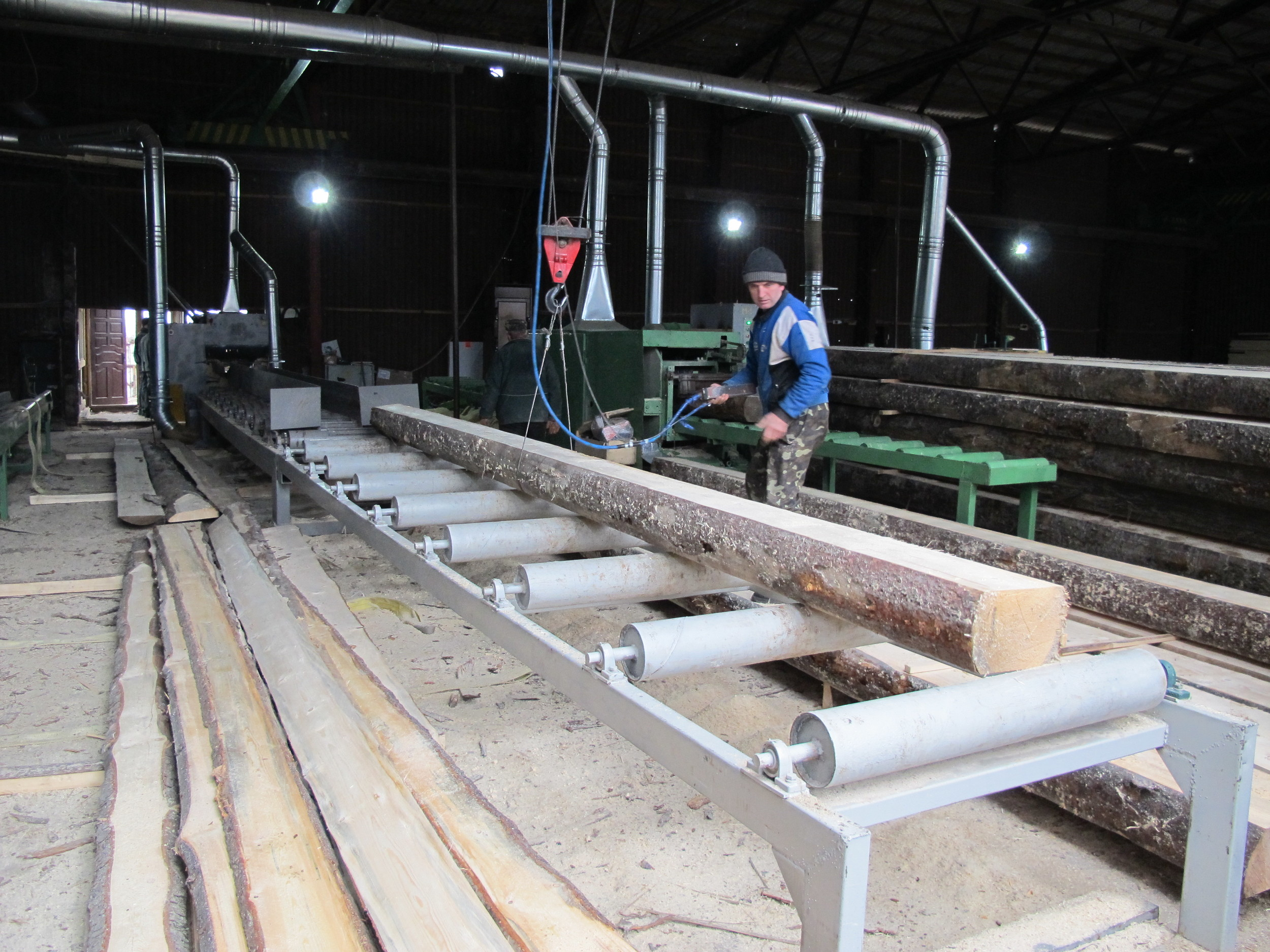 Our Spruce beams and boards Sawmill near Ivan Frankovisk
