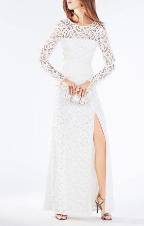 Elizabella Cutout Lace Gown